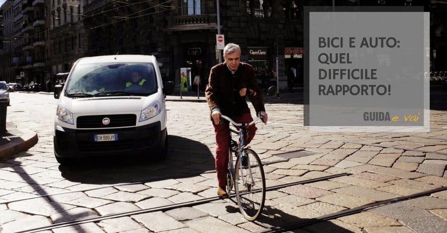 Il difficile rapporto tra ciclisti e automobilisti