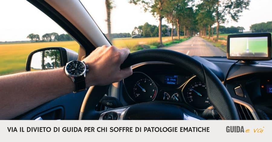 Patente di guida per i malati ematici: abolito il divieto!