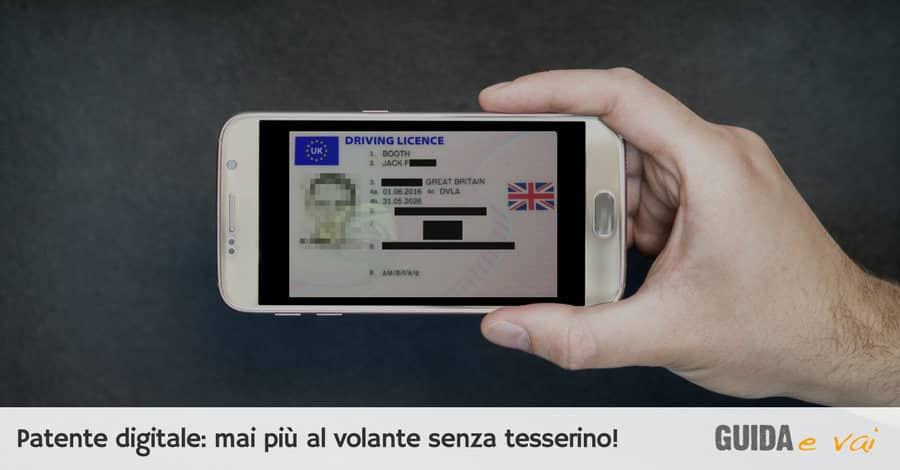 Come funziona la patente digitale e multe per guida senza patente