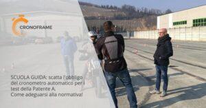 Il cronometro automatico diventa obbligatorio per i test di patente moto