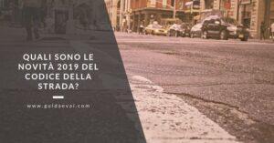 codice della strada 2019