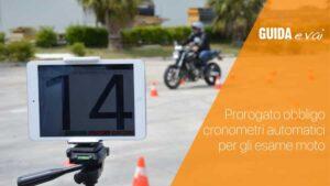 Proroga dell'obbligo di cronometro automatico moto
