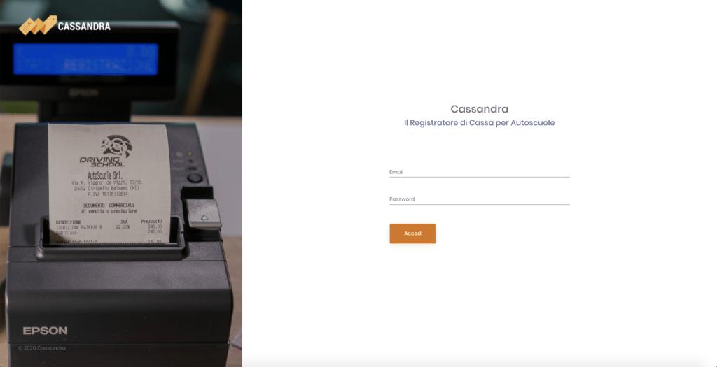 registratore di cassa per autoscuole