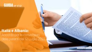 accordo italia albania conversioni patenti